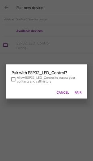 Связь по Serial Bluetooth ESP32 в Arduino IDE