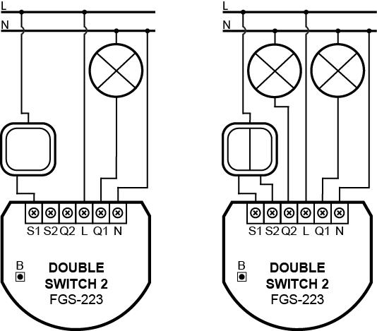 Двухканальное реле FIBARO Double Switch 2