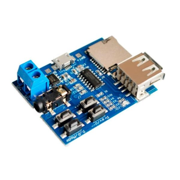 Аудио модуль mp3 GPD2856C, USB-Flash, TF-карта, 2-3 Вт