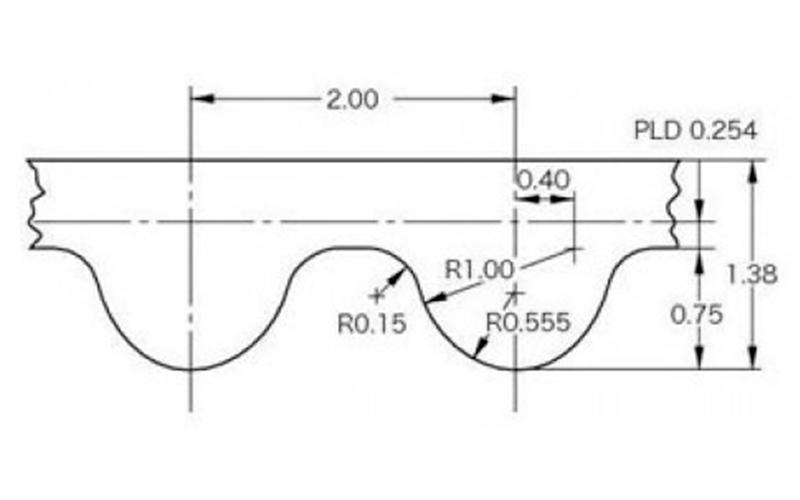 GT2 - зубчатый ремень замкнутый, 200 мм, ширина 6 мм