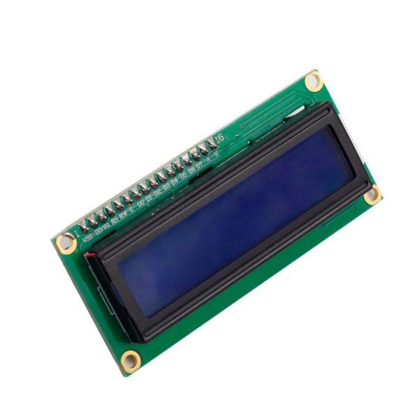 Символьный ЖК I2C дисплей LCD1602 16x2 (голубая подсветка)