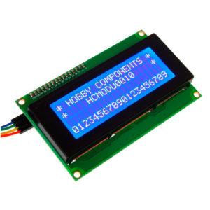 Символьный ЖК I2C дисплей LCD2004 20x4 (голубая подсветка)