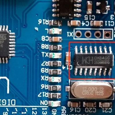 Установка драйверов микросхемы CH340G для Arduino