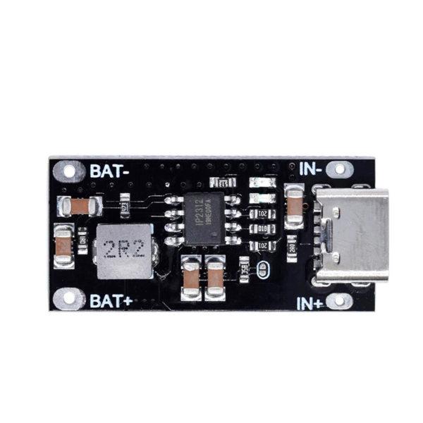 IP2312 - Модуль зарядки литиевых аккумуляторов с USB Type C
