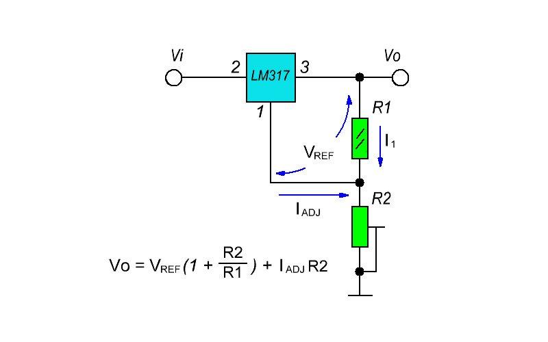 Схема подключения lm317