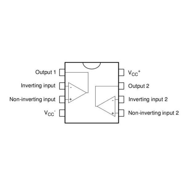 LM358N — двухканальный операционный усилитель
