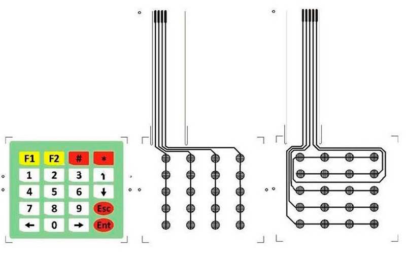 Мембранная клавиатура Matrix Keypad Switch 4x5