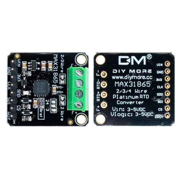 MAX31865 - SPI модуль - преобразователь для высокотемпературных терморезисторов PT100 / PT1000