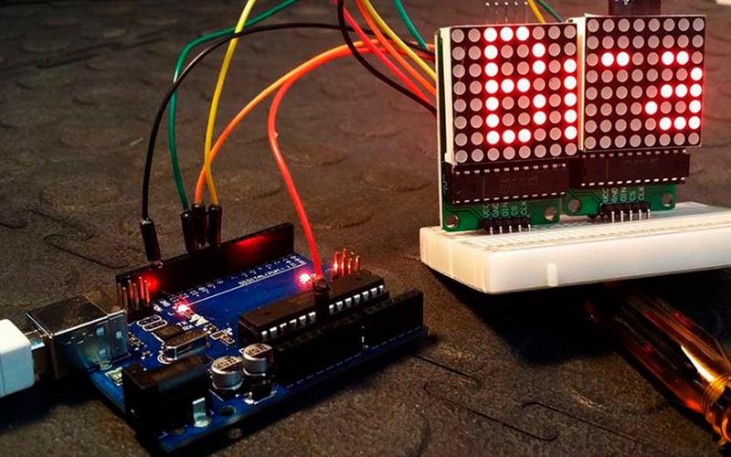 Светодиодная матрица MAX7219 – подключение к Arduino