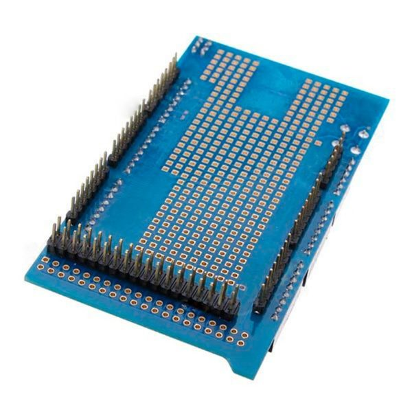 MEGA2560 Protoshield V3 + макетная плата на 170 точек