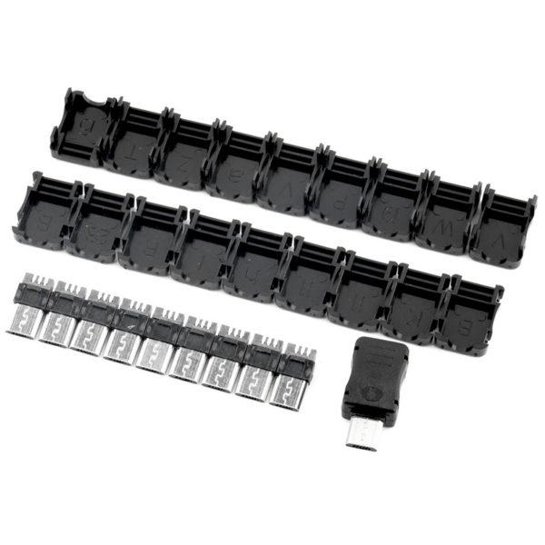 Micro USB разъем с пластиковым кожухом, 1 шт.