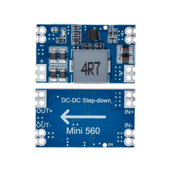 Mini560 – DC-DC понижающий преобразователь (5 ~ 20В — 3.3 / 5 / 9 / 12В, до 5А)