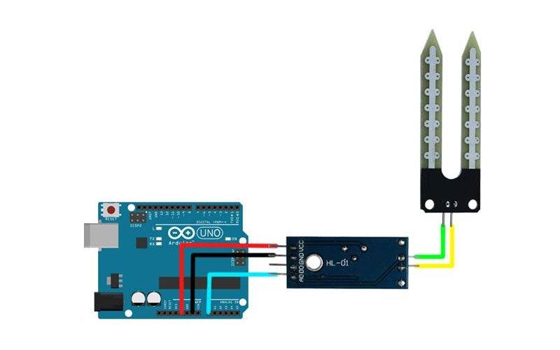Подключение датчика влажности почвы к Arduino