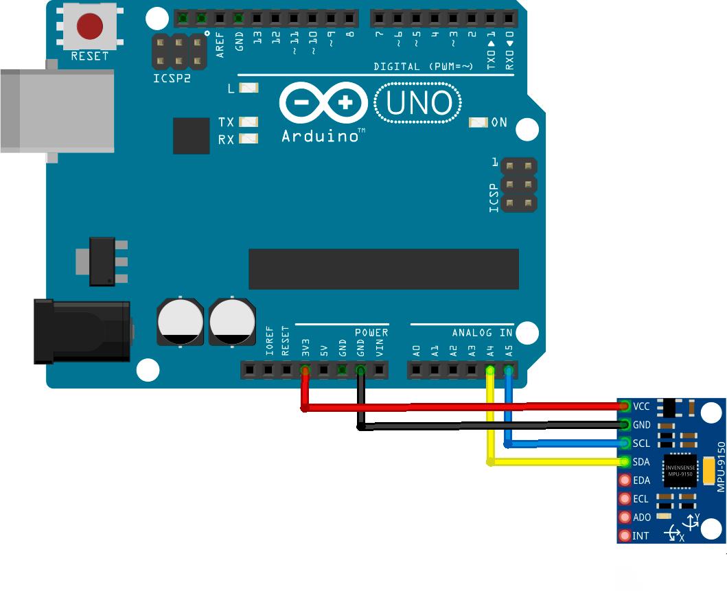 Схема подключения MPU 9250