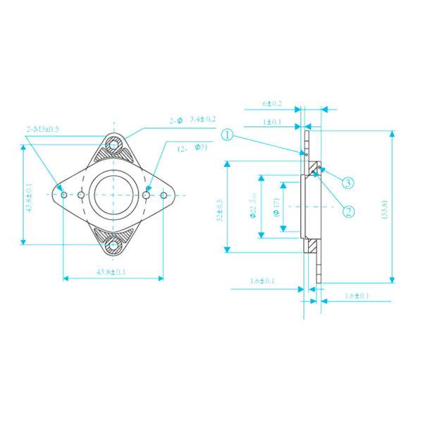 Демпфер шагового двигателя Nema 17