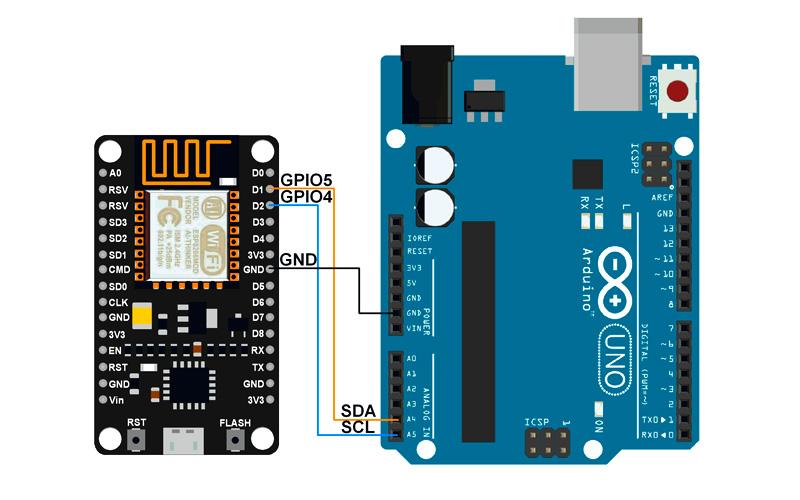 NodeMCU V3 - подключение по I2C к Arduino