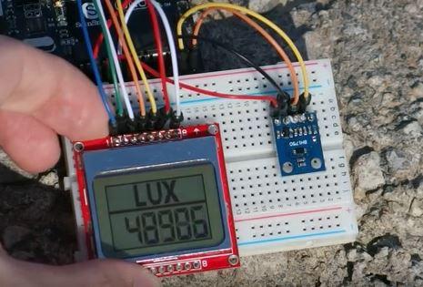 Самодельный измеритель освещённости (люксметр) на BH1750, ARDUINO и Nokia 5110