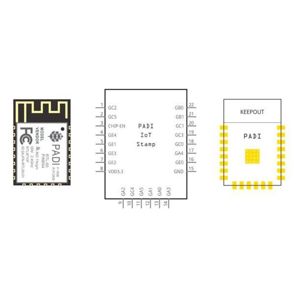 PADI IоT Stamp WiFi-модуль