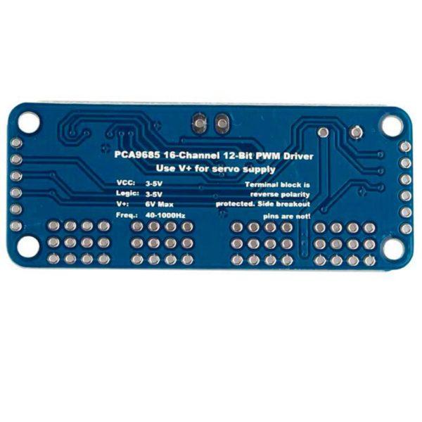 ШИМ / Драйвер на 16 серводвигателей PCA9685 (12 бит)