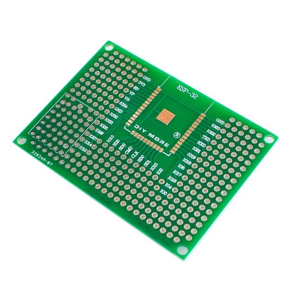 Макетная плата для ESP-32 и ESP-12 (5×7 см, 300 точек)