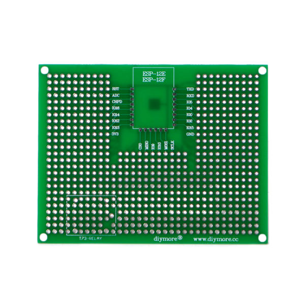 Макетная плата для ESP-32 и ESP-12 (7×9 см, 400 точек)
