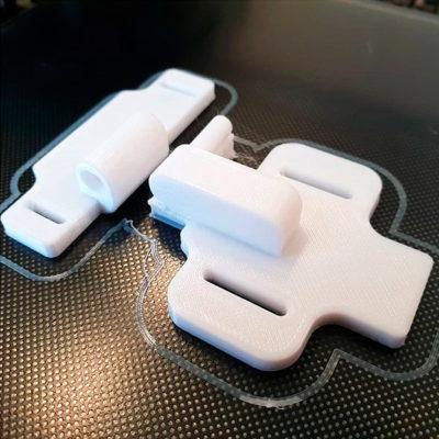 3D печать дверной петли из PETG пластика на заказ