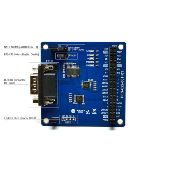 PHPoC Shield RS232 Board