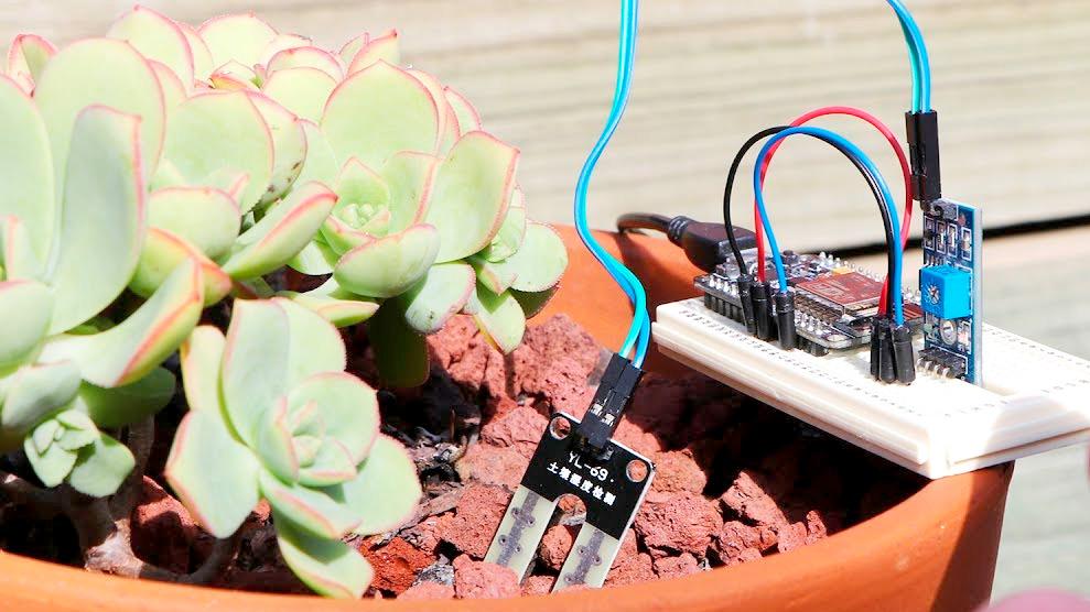NodeMCU ESP8266 и датчик влажности почвы
