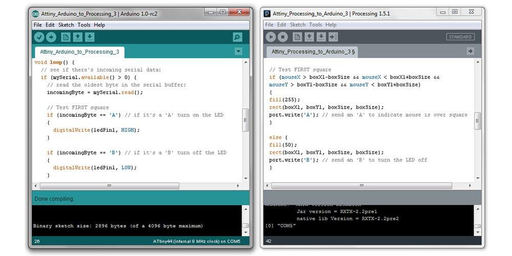 Внешний вид PDE и сравнение с Arduino IDE
