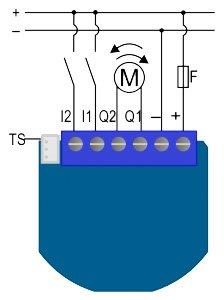 Qubino Shutter DC - управление электроприводами DC
