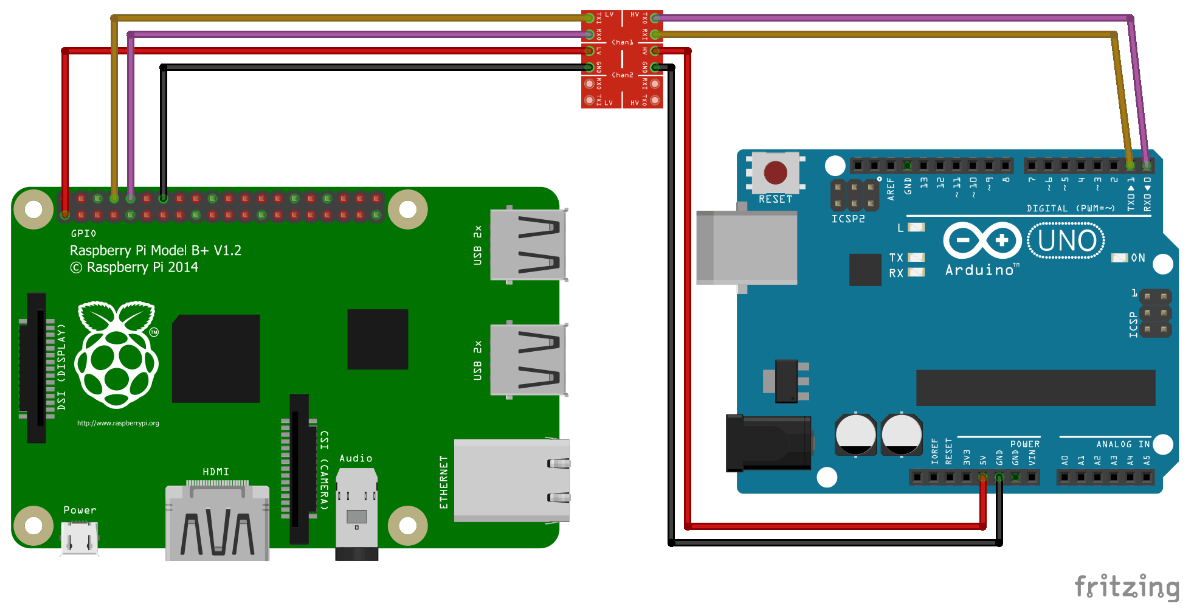 Соединение Arduino и Raspberry Pi через GPIO