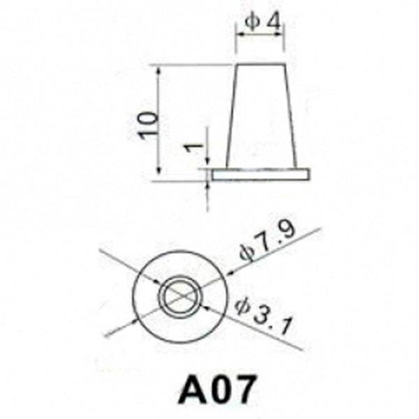 Круглый колпачок A-07 Серый