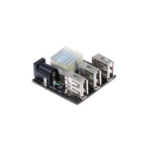Понижающий DC-DC преобразователь с 3 USB портами (5.6-14В — 5В / 8А)