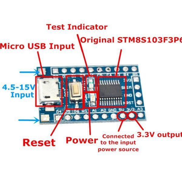 Отладочная плата на STM8S103F3P6 (STM8S/STM8)