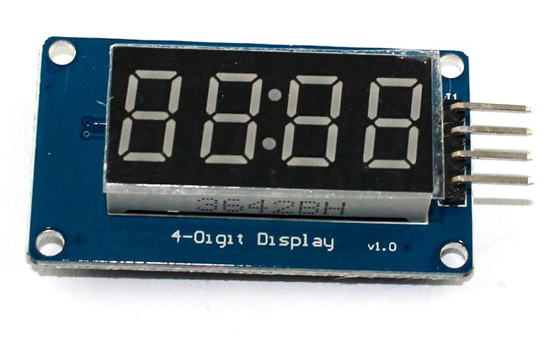 LED индикатор TM1637 и Arduino - схема подключения