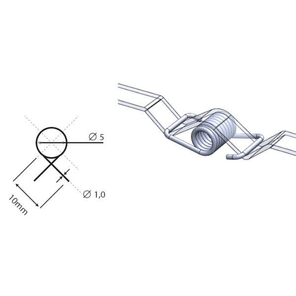 Пружина для натяжки ремня 10 мм для 3D принтера