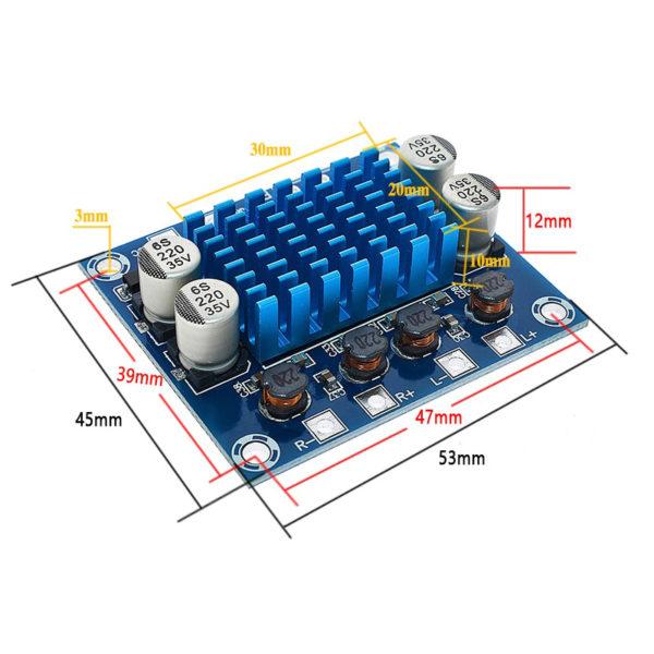 XH-A232 - модуль аудиоусилителя на TPA3110 (30Вт на канал / 2 канала, DC 8-26В, до 3A)