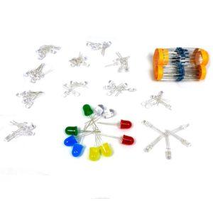 Комплект светодиодов и резисторов
