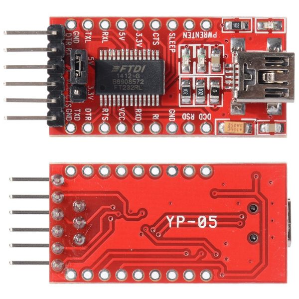 USB в UART Преобразователь TTL FTDI FT232RL