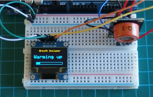 Алкотестер на базе датчика MQ3 и OLED дисплея