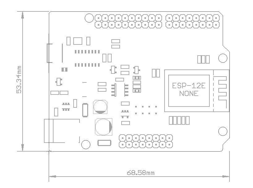 WeMos D1 R2 - WiFi контроллер на базе ESP8266 ESP-12E