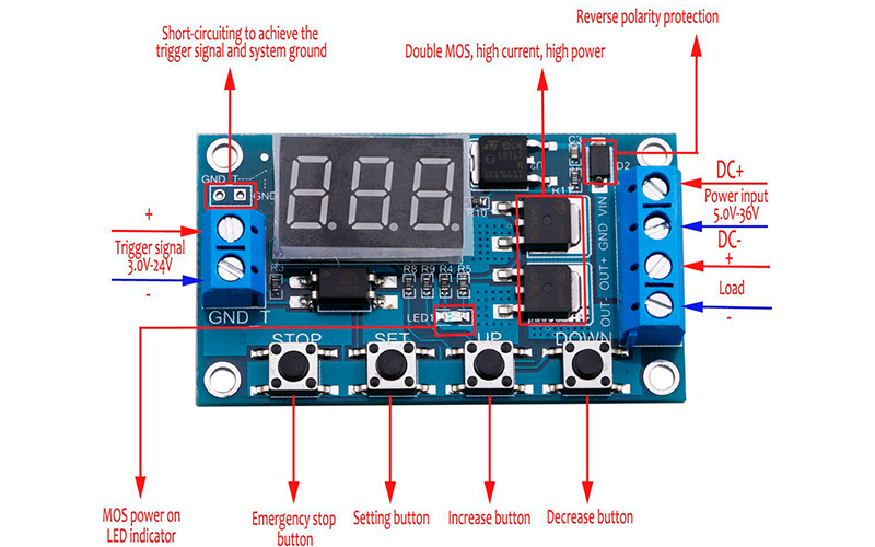 XY-J04 - программируемый таймер (циклический)