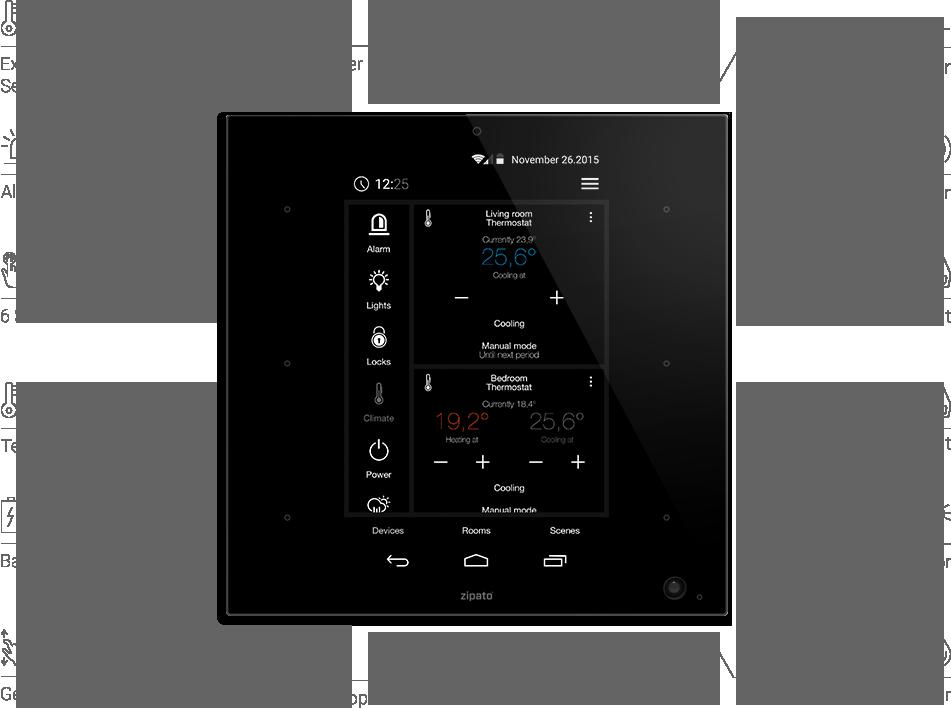 Планшет-контроллер умного дома ZipaTile